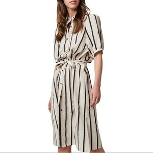 Sessùn Danny Lyon Striped Midi Dress French M